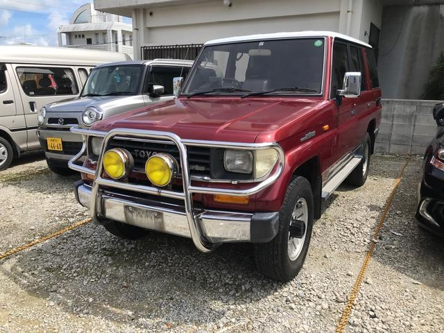 沖縄の中古車 トヨタ ランドクルーザープラド 車両価格 139万円 リ済込 1991(平成3)年 28.1万km レッド