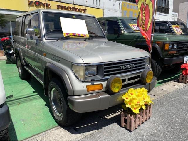 沖縄県の中古車ならランドクルーザープラド SX 4WD ディーゼルターボ 社外アルミ 社外足回り