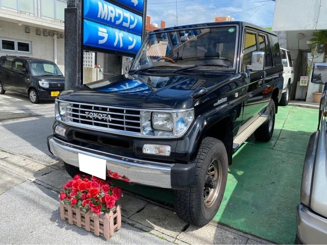 沖縄の中古車 トヨタ ランドクルーザープラド 車両価格 198万円 リ済込 1995(平成7)年 28.5万km ブラック