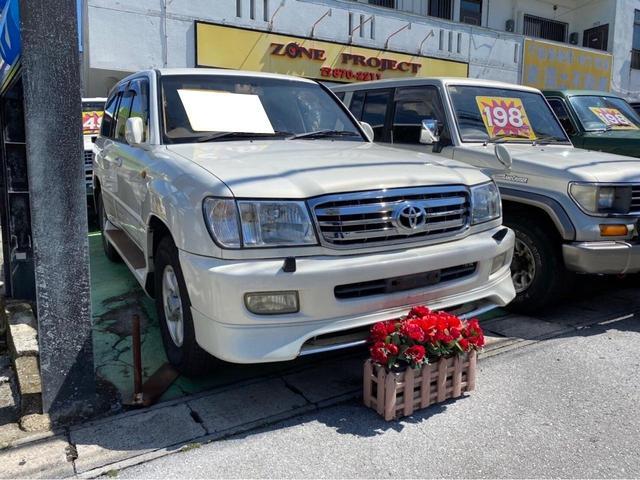 沖縄県の中古車ならランドクルーザー100 VXリミテッド ディーゼルターボ 純正フロント&サイドスポイラー 4WD