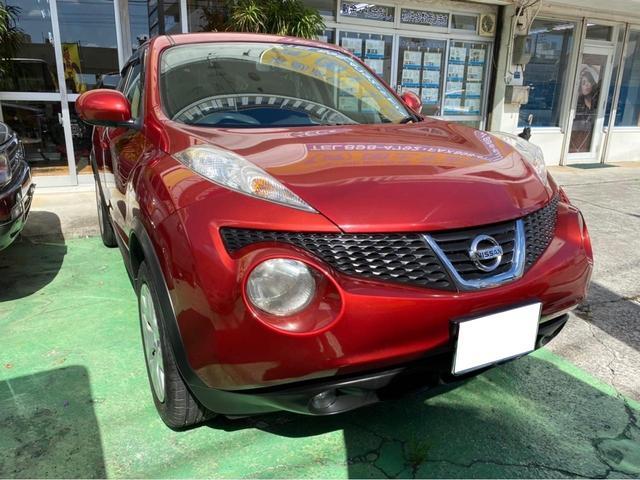 沖縄の中古車 日産 ジューク 車両価格 89万円 リ済込 2011(平成23)年 6.0万km レッド