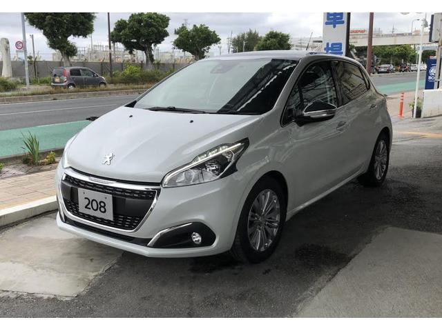 沖縄の中古車 プジョー 208 車両価格 138万円 リ済別 2019(平成31)年 1.4万km ホワイト