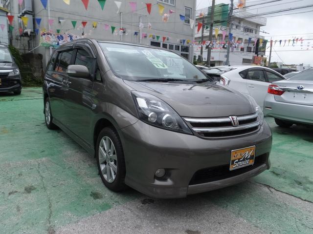 沖縄の中古車 トヨタ アイシス 車両価格 61万円 リ済込 平成22年 9.3万km ブラウン