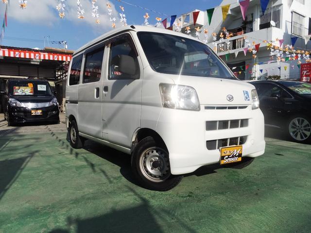 沖縄の中古車 ダイハツ ハイゼットカーゴ 車両価格 39万円 リ済別 2005(平成17)年 7.3万km ホワイト