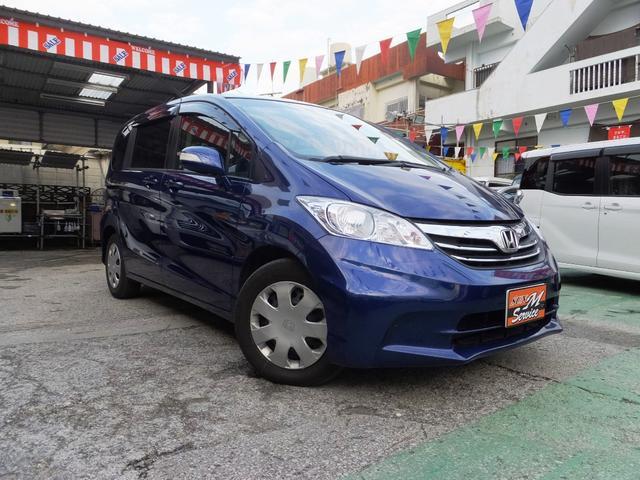 沖縄の中古車 ホンダ フリード 車両価格 68万円 リ済別 平成24年 11.1万km ダークブルー