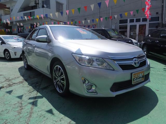 沖縄県の中古車ならカムリ ハイブリッド Gパッケージ 社外アルミ パワーシート