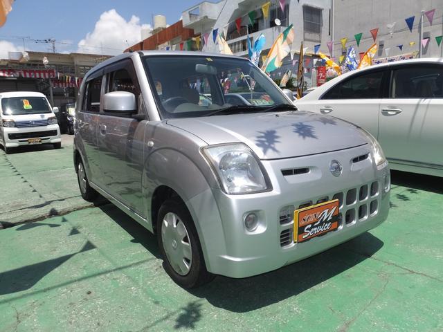 宜野湾市 SUN M Service(サンエムサービス) 日産 ピノ S 走行45000km 衝突安全ボディー シルバー 4.5万km 2007(平成19)年