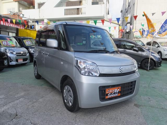 沖縄の中古車 スズキ スペーシア 車両価格 63万円 リ済別 2014(平成26)年 8.1万km シルバー