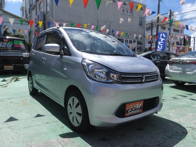 沖縄の中古車 三菱 eKワゴン 車両価格 39万円 リ済別 2014(平成26)年 8.8万km シルバー