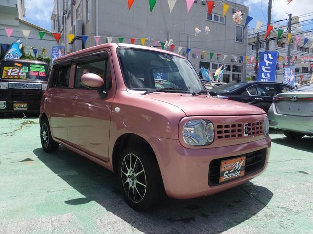 沖縄の中古車 スズキ アルトラパン 車両価格 39万円 リ済別 2013(平成25)年 7.3万km ピンク
