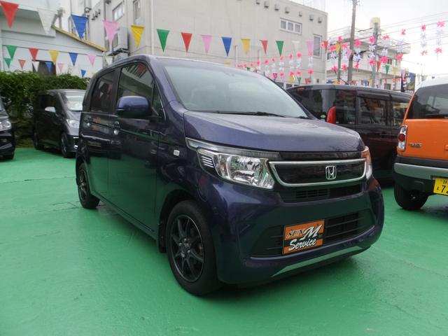 沖縄の中古車 ホンダ N-WGN 車両価格 63万円 リ済別 2014(平成26)年 8.9万km 紺