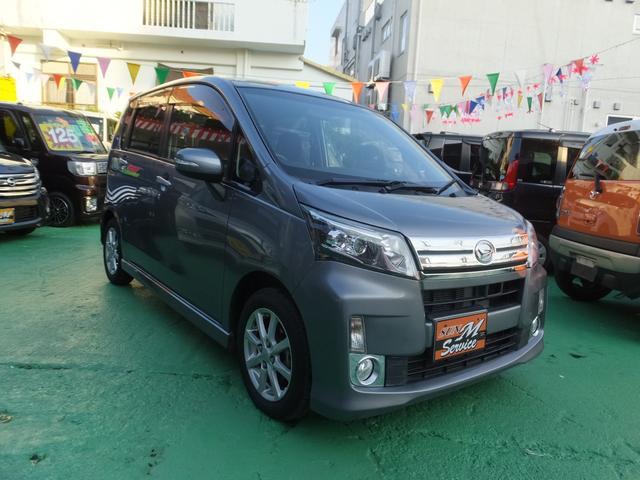 沖縄県の中古車ならムーヴ カスタム X 走行13200km 純正アルミ ナビ・DVD