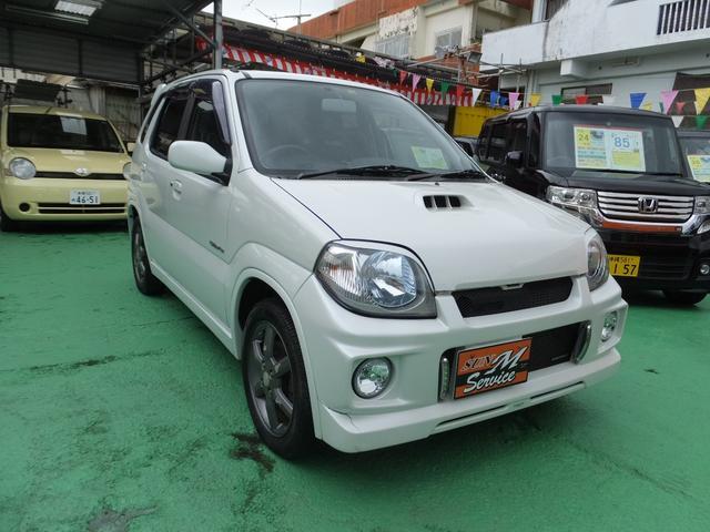 沖縄県の中古車ならKeiワークス ベースグレードICターボ レカロシート 純正アルミ 修復無し