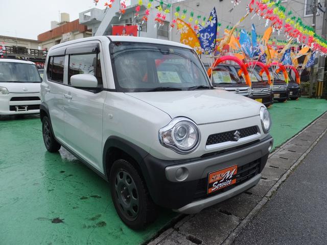 沖縄県の中古車ならハスラー Gターボ シートヒーターHID レーダーブレーキ ナビ・TV