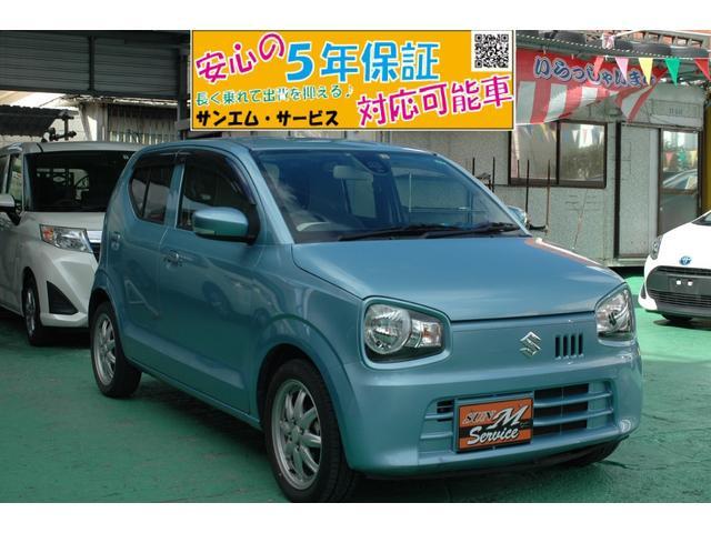 沖縄の中古車 スズキ アルト 車両価格 59万円 リ済込 2015(平成27)年 7.3万km ブルー