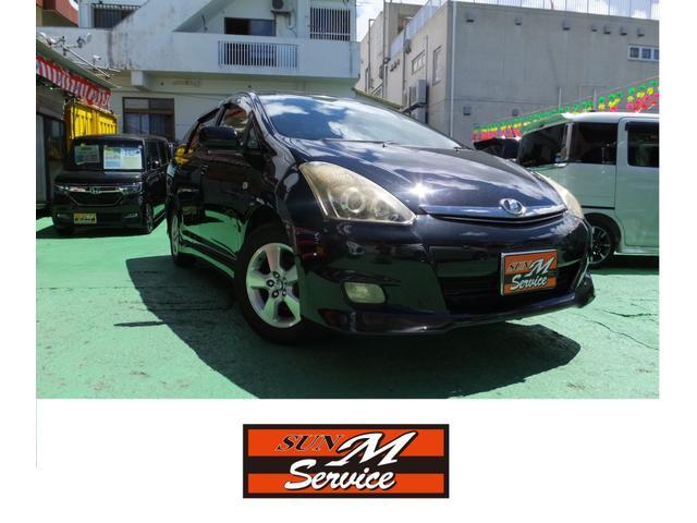沖縄県の中古車ならウィッシュ X エアロスポーツパッケージ ユーザー買取 現状販売 純正アルミ キーレス オートA/C
