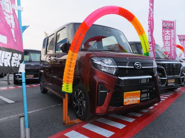 ダイハツ カスタムX 届出済未使用車 両側パワースライドドア コーナーセンサー レーダーブレーキサポート 誤発信防止