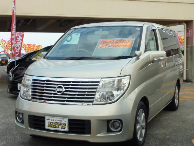 沖縄の中古車 日産 エルグランド 車両価格 79万円 リ済別 平成20年 7.7万km ウォームシルバーTM