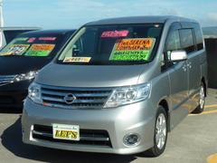 沖縄の中古車 日産 セレナ 車両価格 79万円 リ済別 平成21年 8.2万K ダイヤモンドシルバーM