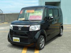 沖縄の中古車 ホンダ N BOX+ 車両価格 89万円 リ済別 平成25年 8.1万K クリスタルブラックパール