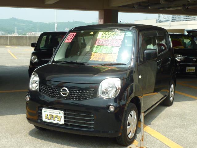 沖縄の中古車 日産 モコ 車両価格 49万円 リ済別 2011(平成23)年 8.0万km ブルーイッシュブラックP