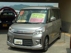 沖縄の中古車 スズキ スペーシアカスタム 車両価格 93万円 リ済別 平成25年 7.3万K ライトグレーM