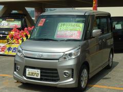 沖縄の中古車 スズキ スペーシアカスタム 車両価格 83万円 リ済別 平成25年 6.0万K ライトグレーM