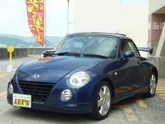 沖縄の中古車 ダイハツ コペン 車両価格 58万円 リ済別 平成16年 12.7万K ダークブルーM