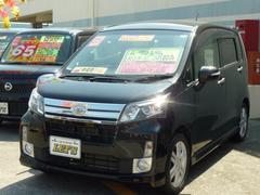沖縄の中古車 ダイハツ ムーヴ 車両価格 73万円 リ済別 平成25年 8.3万K ブラックマイカメタリック