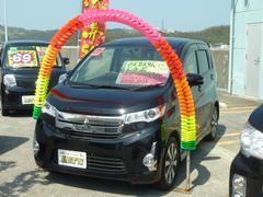 沖縄の中古車 三菱 eKカスタム 車両価格 83万円 リ済別 平成25年 4.0万K ブラックマイカ