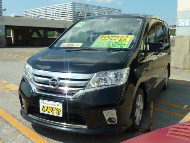 沖縄の中古車 日産 セレナ 車両価格 109万円 リ済別 2012(平成24)年 8.4万km スーパーブラック
