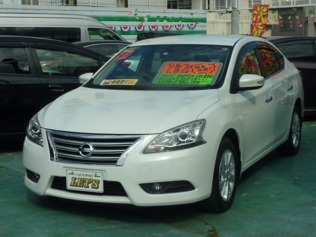 沖縄の中古車 日産 シルフィ 車両価格 75万円 リ済別 2013(平成25)年 5.3万km ブリリアントホワイトパール