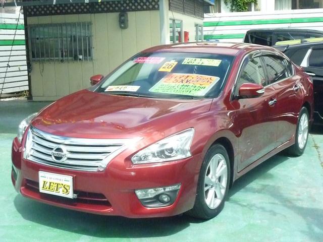 沖縄の中古車 日産 ティアナ 車両価格 95万円 リ済別 2014(平成26)年 8.3万km レッドM