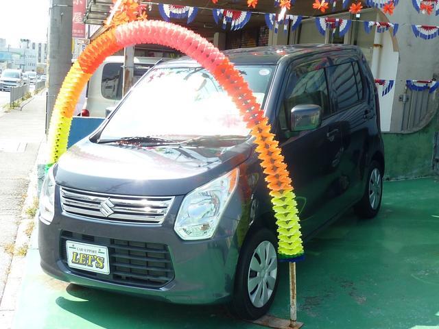 沖縄の中古車 スズキ ワゴンR 車両価格 63万円 リ済別 2014(平成26)年 4.0万km ダークパープルM