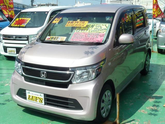 沖縄の中古車 ホンダ N-WGN 車両価格 79万円 リ済別 2014(平成26)年 6.2万km ピンクM