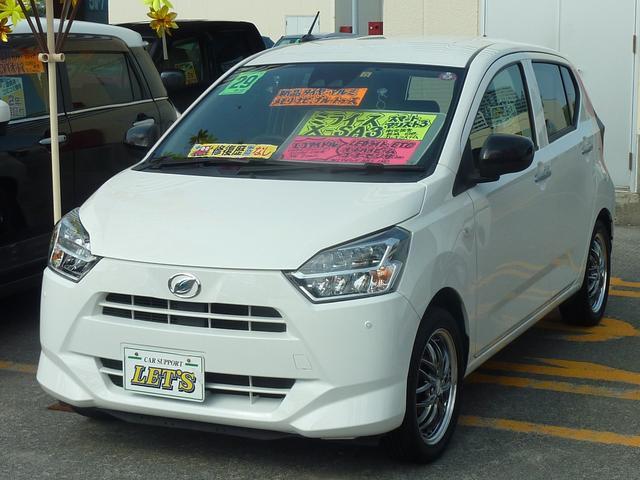 沖縄の中古車 ダイハツ ミライース 車両価格 73万円 リ済別 2017(平成29)年 7.8万km ホワイト