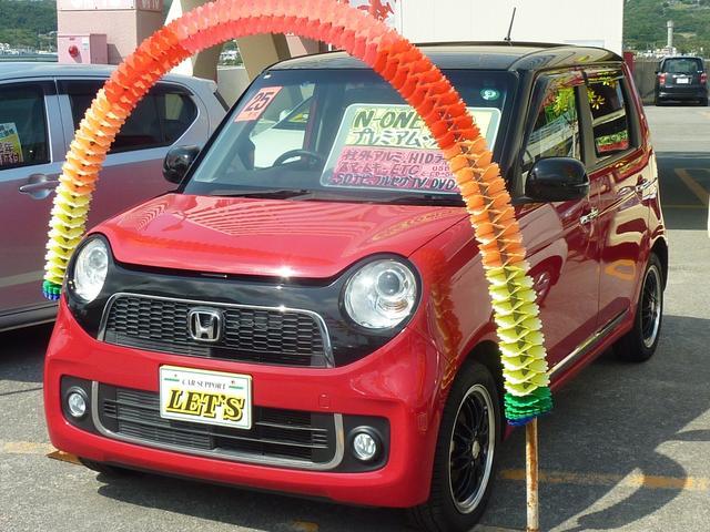 沖縄の中古車 ホンダ N-ONE 車両価格 72万円 リ済別 2013(平成25)年 7.9万km ミラノレッド