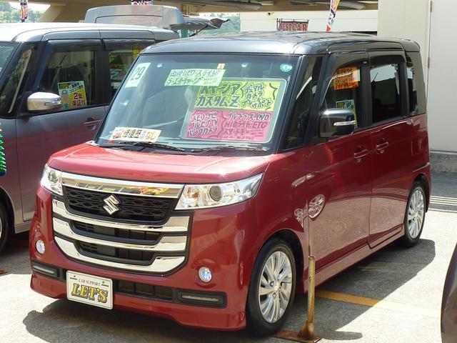 沖縄の中古車 スズキ スペーシアカスタムZ 車両価格 109万円 リ済別 2017(平成29)年 6.9万km レッドM