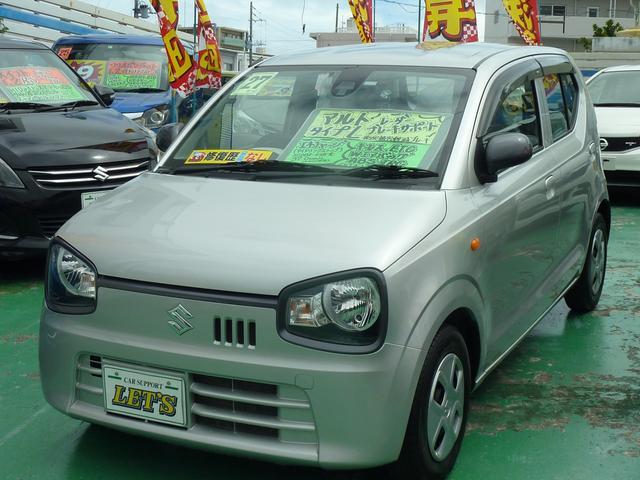 沖縄の中古車 スズキ アルト 車両価格 53万円 リ済別 2015(平成27)年 7.1万km シルバーM