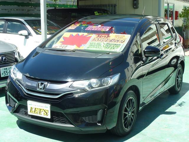 沖縄の中古車 ホンダ フィット 車両価格 79万円 リ済別 2013(平成25)年 6.2万km ブラックM