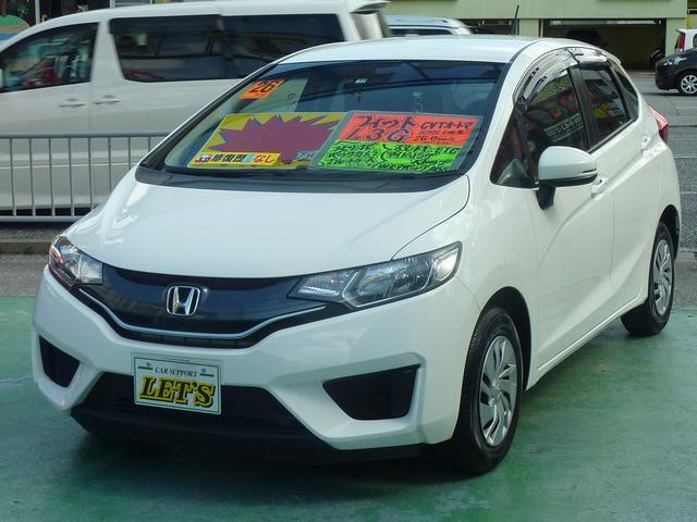 沖縄の中古車 ホンダ フィット 車両価格 69万円 リ済別 2014(平成26)年 7.5万km ホワイト