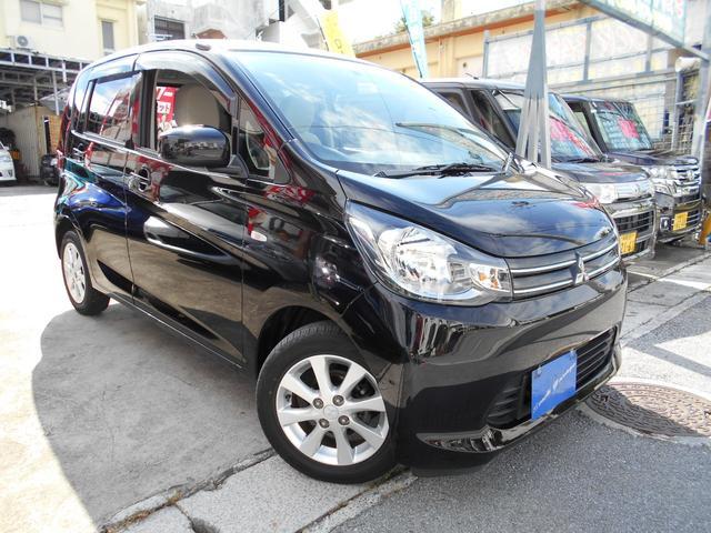 沖縄の中古車 三菱 eKワゴン 車両価格 62万円 リ済込 平成25年 3.9万km ブラックマイカ