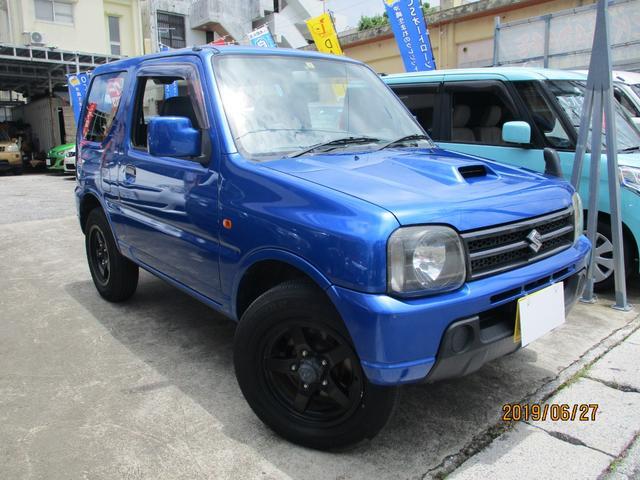 沖縄の中古車 スズキ ジムニー 車両価格 59万円 リ済込 2008(平成20)年 10.0万km ブルーM