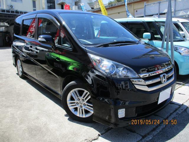 沖縄の中古車 ホンダ ステップワゴン 車両価格 53万円 リ済込 2008(平成20)年 11.5万km ダークパープルM