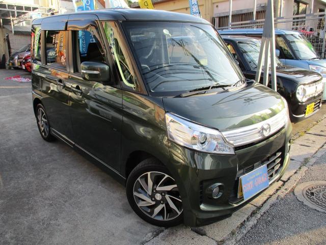 沖縄の中古車 マツダ フレアワゴンカスタムスタイル 車両価格 65万円 リ済込 2013(平成25)年 13.5万km DグリーンM