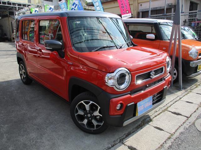 沖縄の中古車 スズキ ハスラー 車両価格 174万円 リ済込 新車  バーミリオンオレンジガンメタツートン