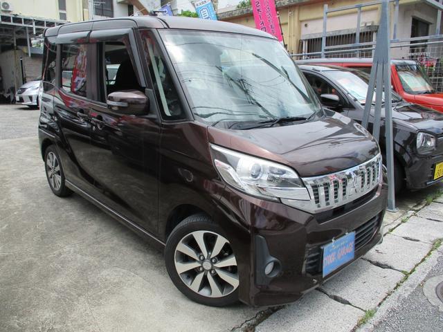 沖縄県の中古車ならeKスペースカスタム カスタムT ターボ・リアサーキュレター・両側電動スライドドア・プッシュスタート・ルームミラータイプバックカメラ・カロッツェリアナビ・DVD・ワンセグ・Bluetooth