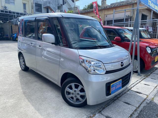 沖縄県の中古車ならフレアワゴン XG アイドリングストップスマートキーシートカバーDVD 14インチアルミETC