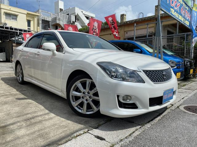 沖縄の中古車 トヨタ クラウン 車両価格 79万円 リ済込 2013(平成25)年 7.9万km パールホワイト