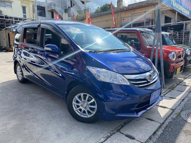 沖縄の中古車 ホンダ フリード 車両価格 59万円 リ済別 2012(平成24)年 8.3万km ブルーM